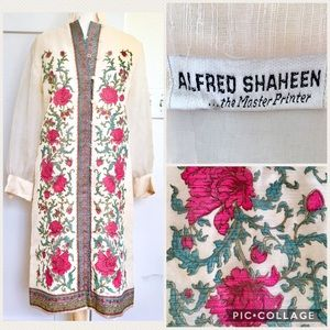 Vintage 60s/70s Pink Alfred Shaheen Dress